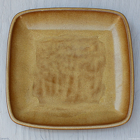Sand Large Square Stoneware Platter. Handmade at the Ceramix pottery in South Africa from African clay - 39.5cm Wide x 4.5cm High