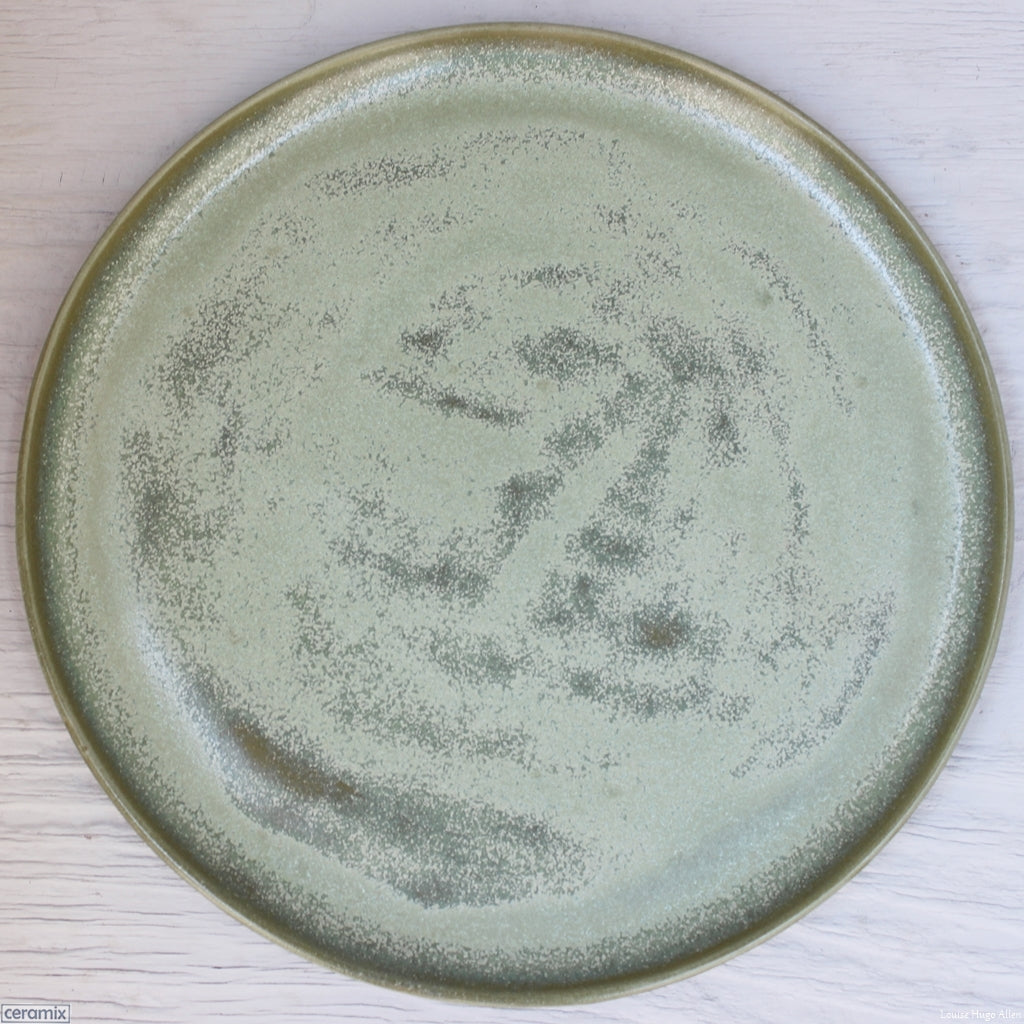 Seafoam Medium Round Stoneware Platter handmade at the Ceramix pottery in South Africa from African clay - 35cm Wide x 2.5cm High