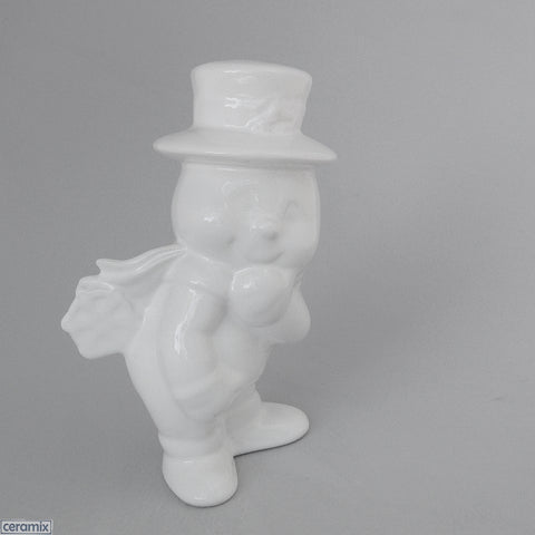 Christmas Snowman with Snowflake on Bottom by Ceramix
