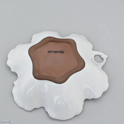 Chateau Ware Small Serving Dish 21cm Wide in Terracotta Clay glazed White by Ceramix