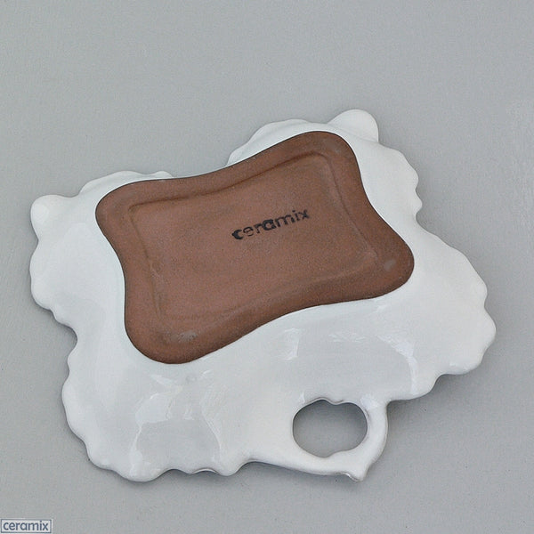 Chateau Ware Rectangular Serving Dish in Terracotta Clay glazed White by Ceramix