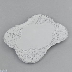White Chateau Ware Scroll Tray 24 x 19cm by Ceramix
