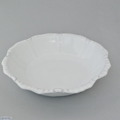 White Chateau Ware Medium Bowl 31cm Wide by Ceramix