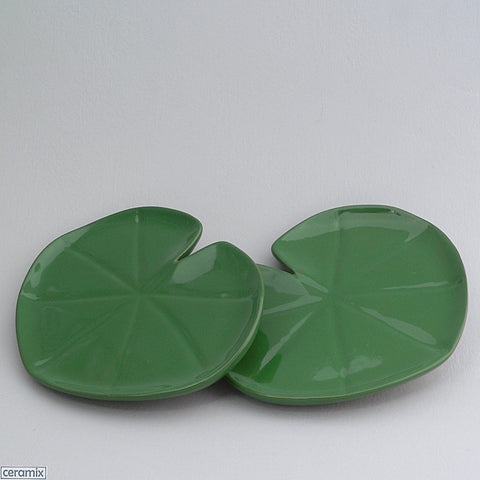 2 Tropical Lily Pad Plates