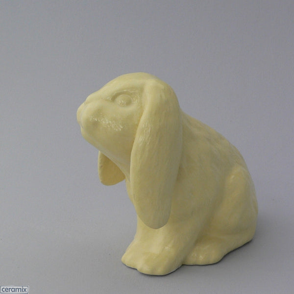 Lemon Yellow Ceramic Dixie Sitting Bunny by Ceramix