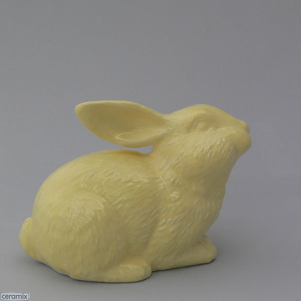 Lemon Yellow Ceramic Sparkles Crouching Rabbit. Handmade in South Africa by Ceramix
