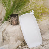 White Ceramic Dove Snack Dish by Ceramix. Handmade in South Africa from Terracotta clay & glazed White.