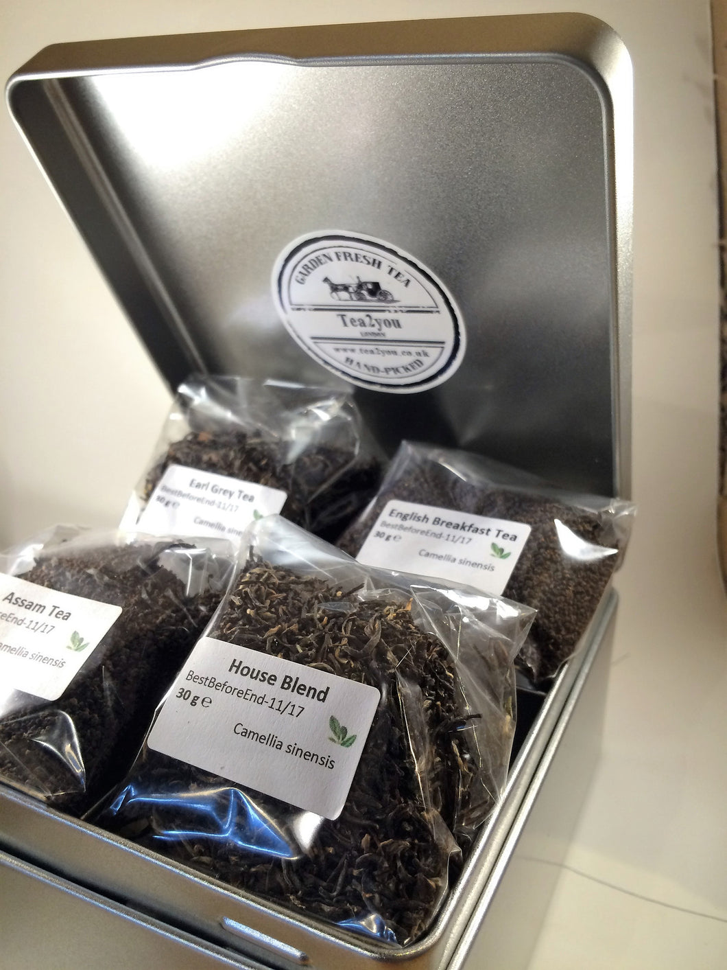 Deluxe Tea Caddy  (with 4 Selection of teas)