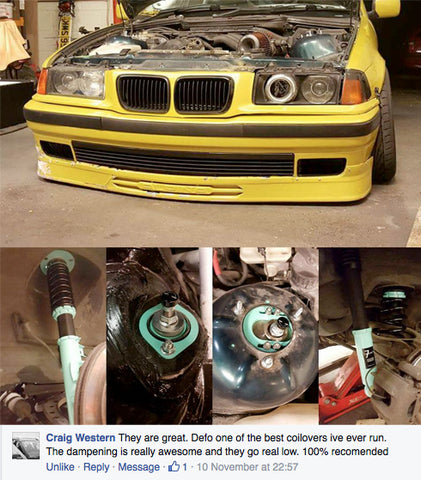 BMW E36 7Twenty Coilover Kit Great Feedback