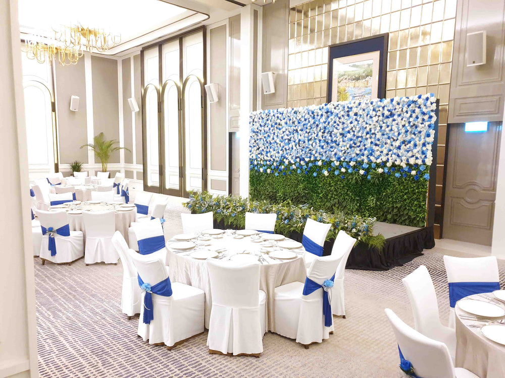 The St. Regis Singapore ballroom with flowers in mind event decoration