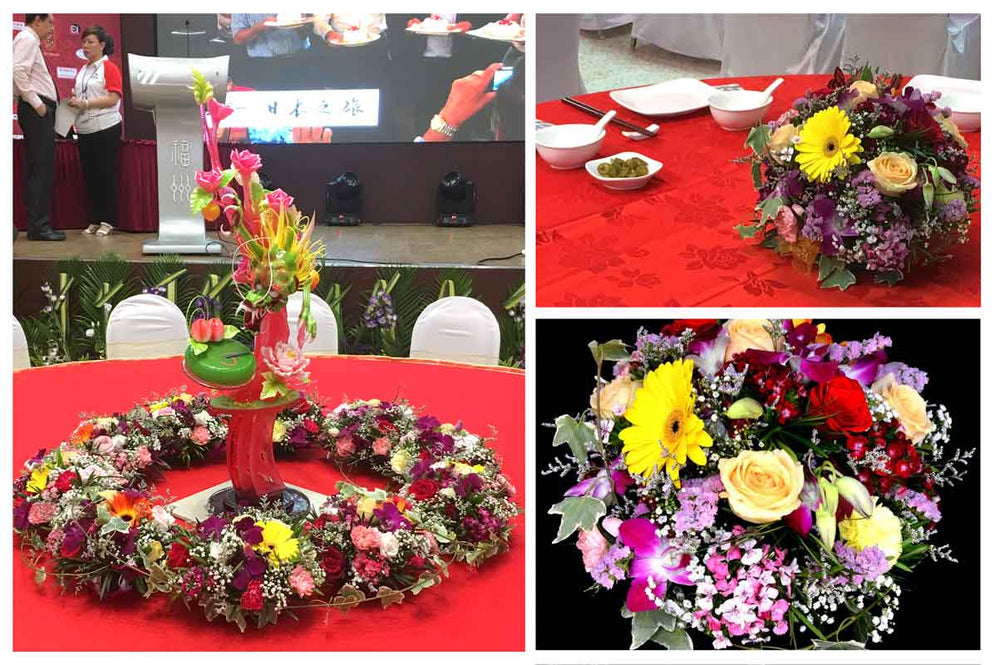 round table floral decoration