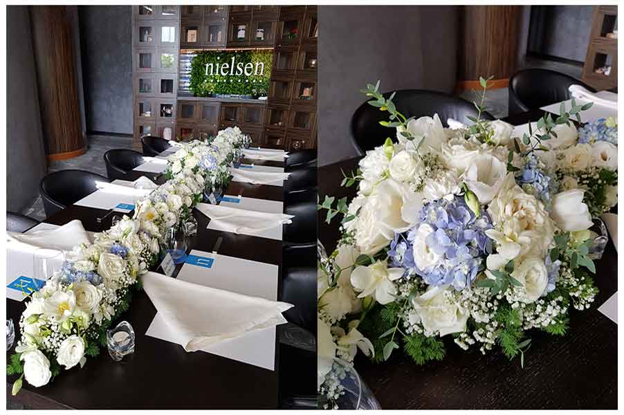 flowers for NELSON event at Waku Ghin Marina Bay Sands Singapore