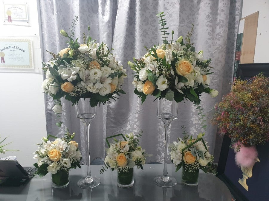 table arrangements for any event decoration using tall glass
