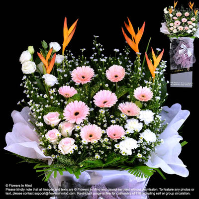 Wreath Box Design (STANDARD) (FW54) - Flowers-In-Mind