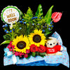 Flower Gift Basket (GW01) - Flowers-In-Mind
