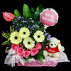 Flower Gift Basket (GW02) - Flowers-In-Mind