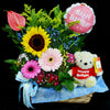 Flower Gift Basket (GW11) - Flowers In Mind