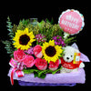 Flower Gift Basket (GW17) - Flowers-In-Mind