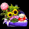 Flower Gift Basket (GW27) - FLOWERS IN MIND