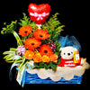 Flower Gift Basket (GW28) - Flowers In Mind