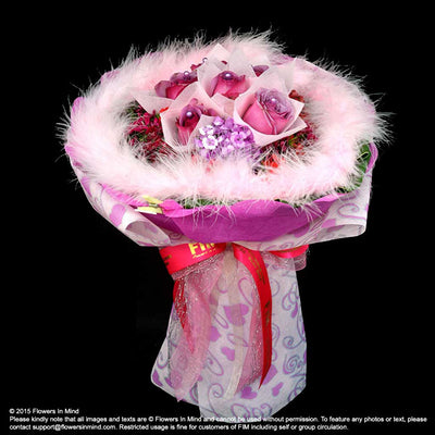 Hand Bouquet of Roses (HB108) - Flowers-In-Mind