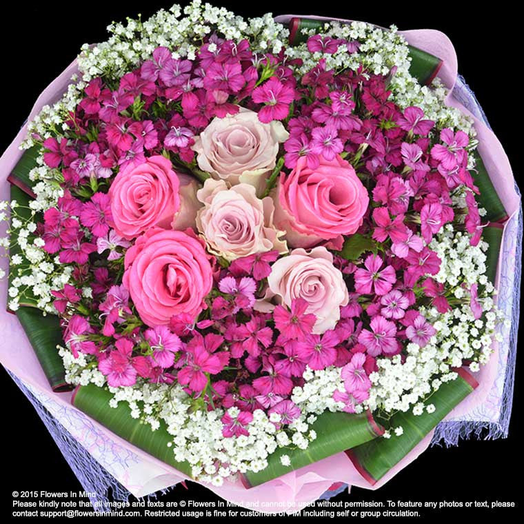 Bouquet of Roses (HB138) - Flowers-In-Mind