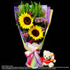 Bouquet of Sunflower and Bear (HB163) - Flowers-In-Mind