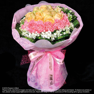 Bouquet of Roses and Carnations (HB183) - Flowers In Mind