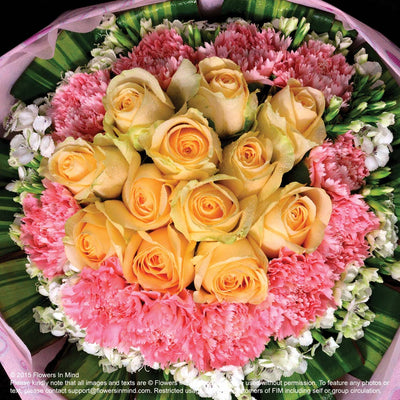 Bouquet of Roses and Carnations (HB183) - Flowers-In-Mind