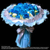Bouquet of Blue Roses with Eustomas (HB197) - Flowers-In-Mind
