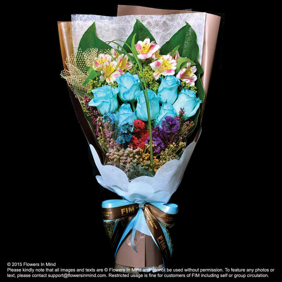 Bouquet of Roses with Alstroemeria  (HB217)