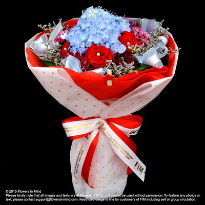 Customise my bouquet (with 1 main flower) - Flowers-In-Mind