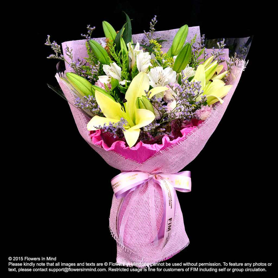 Bouquet of Lilies (HB281) - Flowers-In-Mind