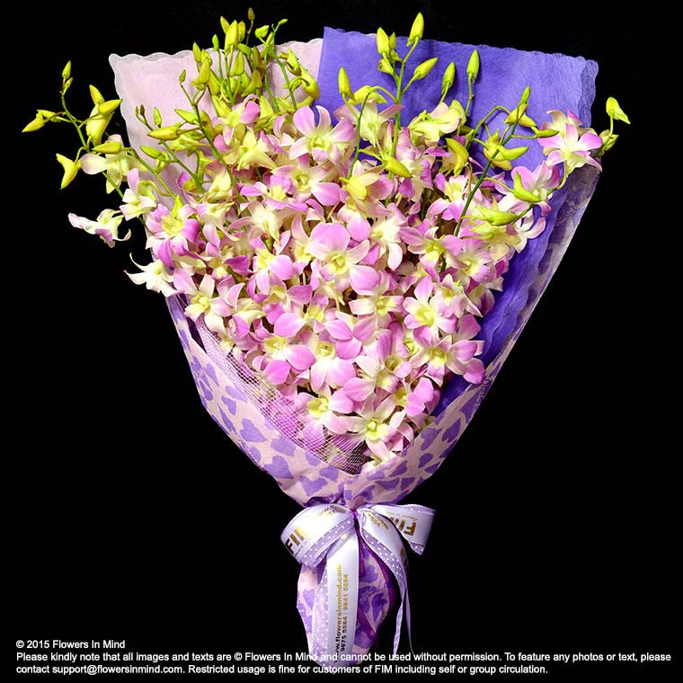 Bouquet of Orchids (HB31) - Flowers-In-Mind
