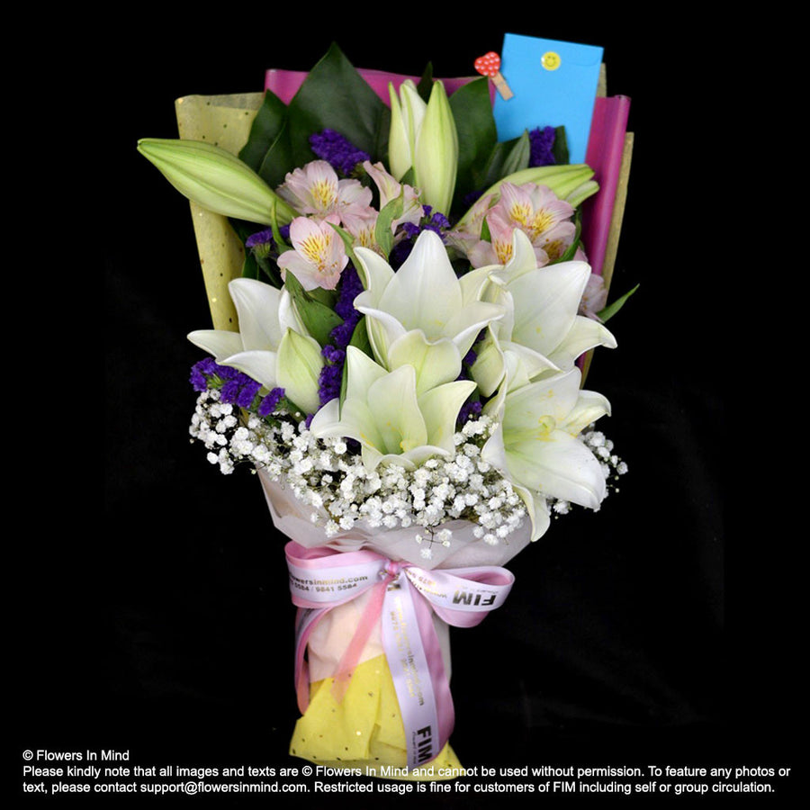Bouquet of Lilies (HB361) - Flowers-In-Mind