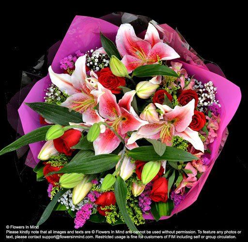 Roses and Lilies (HB425) - Flowers-In-Mind