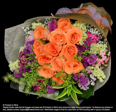 Bouquet of Roses (HB248) - Flowers-In-Mind