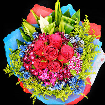 Bouquet of Roses (HB45) - Flowers-In-Mind