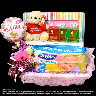 New Born Hamper (HP112) - Flowers-In-Mind