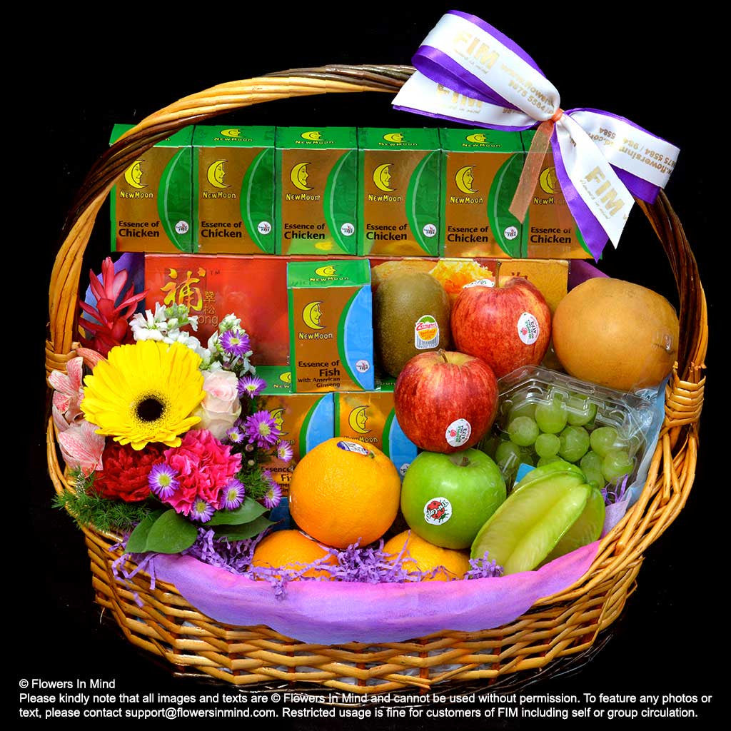 Get well hampers gift hampers singapore flowersinmind wellness hamper hp113 flowers in mind negle Image collections