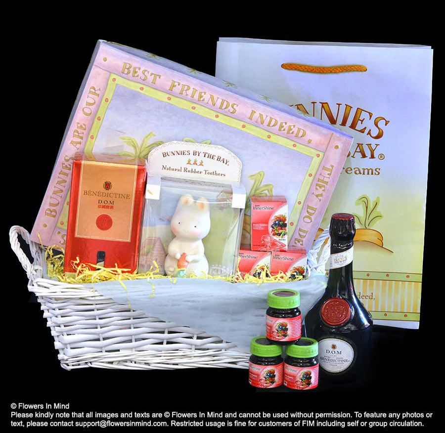 Delightful Knotty Nightly Gift Set_Bud Bunny Tether_FIM baby hamper