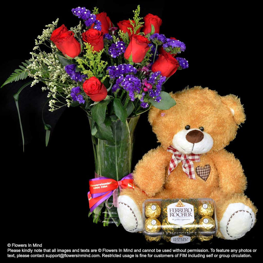 Flowers, Bear and Chocolate (HP285)