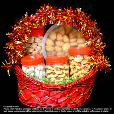 Hari Raya Cookies and Gifts Hampers (HR14) - Flowers In Mind