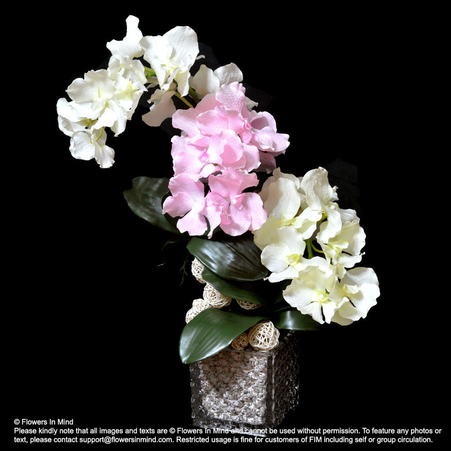 ARTIFICIAL VANDA ORCHID TABLE ARRANGEMENTS (TA330)