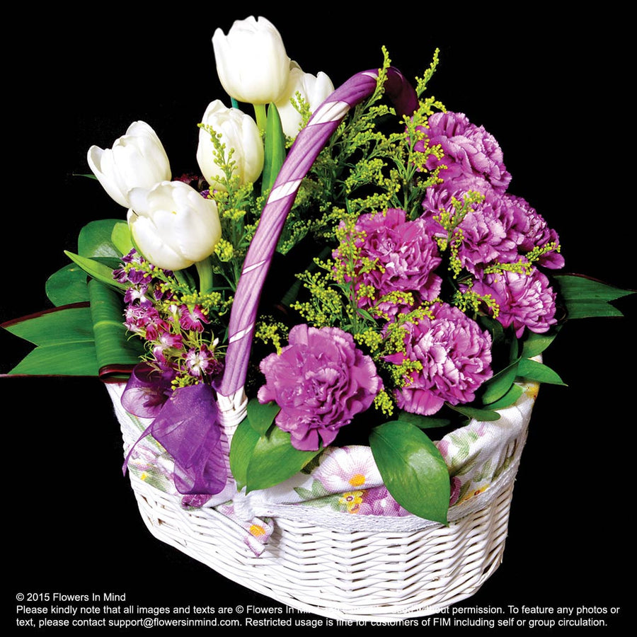 Flower Gift Basket (TA56) - Flowers-In-Mind
