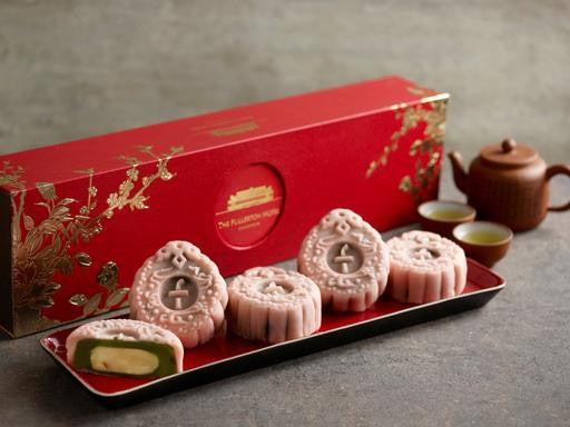 THE FULLERTON TANGERINE LEMON WITH MATCHA RED BEAN PASTE MOONCAKES