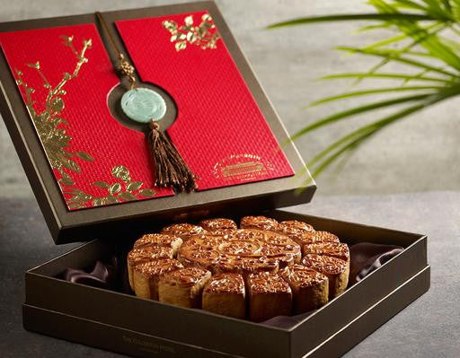 THE FULLERTON HOTEL MOONCAKES (15TREASURES) - Flowers-In-Mind