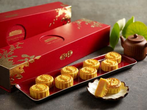 THE FULLERTON GOLDEN CUSTARD MINI MOONCAKES - Flowers-In-Mind