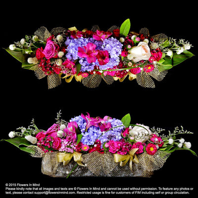 Long Table Arrangement (WD129) - Flowers-In-Mind