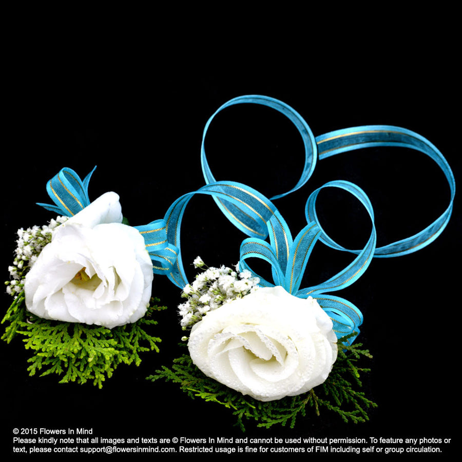 Eustoma Corsage and Wedding Wristlet (WD141)